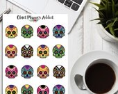 Day of the Dead Planner Stickers | Dia de los Muertos | Colourful Skulls | Skull Stickers | Festival Stickers (S-169)