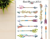 Watercolour Hand-Painted Arrows Planner Stickers (S-062)