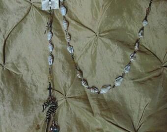 Steampunk Rosary (seashell)
