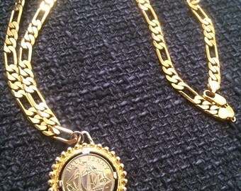 1967 Half Penny Pendant on Gold Plated Necklace.