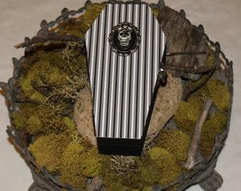 Halloween Wood Coffin - Coffin Gift Box