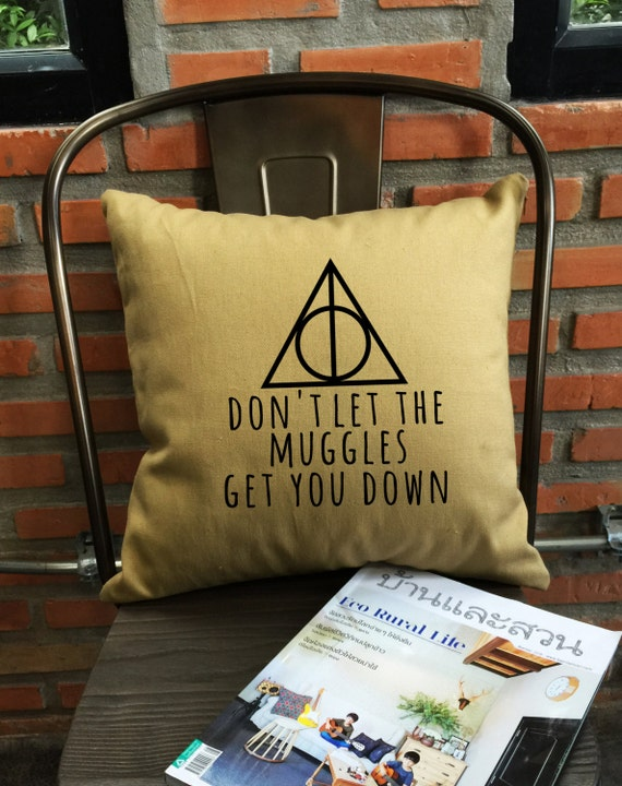 Deathly hallows Harry Potter Pillow Cover Handmade pillow Harry potter Throw Pillow cover cotton canvas pillow cover Pillow Cover Gift