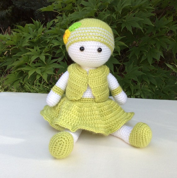 Amigurumi Care Instructions : Imogen Handmade Amigurumi Doll