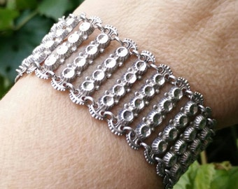 Sterling silver chain bracelet,handmade silver bracelet, link bracelet, vintage bracelet, sterling bracelet, silver bracelet,jewelry