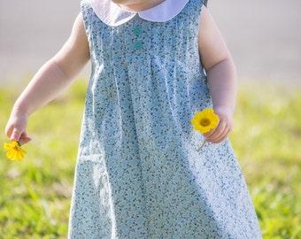 Pin-Tucked Dress PDF Pattern (size 12-18 months)