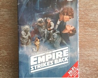 1992 VHS Empire Strikes Back Video in 1984 Box