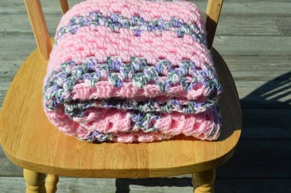 Crochet Baby Girl Blanket, Handmade Baby Blanket, Baby Shower Gift, Pink Baby Girl Blanket, Baby Bedding, Girl bedding, Baby Girl Afghan,