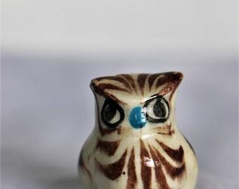 Vintage Minature Painted Ceramic Owl