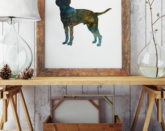 Beautiful Dog Paper Print - Wall Poster - Dog Illustration