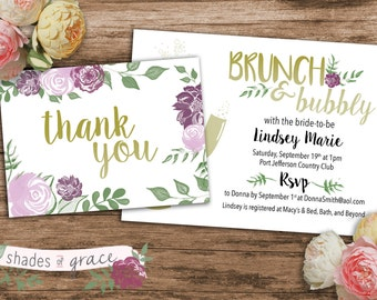 Bridal Shower Invitation Instant Download, DIY Printable Floral Invitation, DIY Bridal Shower, Wedding Brunch Invitation, INSTANT Download