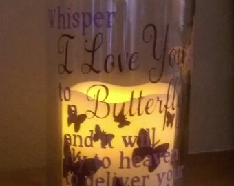 memorial flameless LED candle