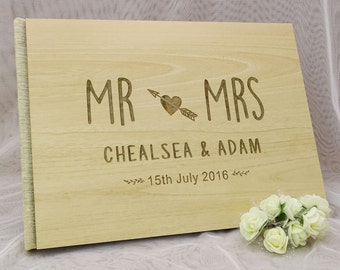 Guest Book Wedding, Rustic Wedding Guestbook, Personalized Wedding Guest Book, Custom Guest Book, Wood Guest Book, Bridal Shower Gift GB47