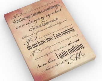 1 Corinthians 13; personalized wedding gift ; gift for wife; romantic gift for couples; Ist anniversary gift ideas; wedding gift