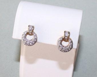 Vintage Avon, Rhinestone Encrusted Post Earrings