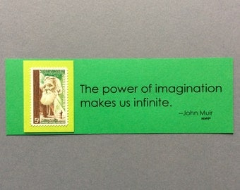 Stamp Bookmark Featuring Vintage, Unused John Muir Stamp from 1964