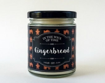 Gingerbread | Scented Vegan Soy Candle | 8 oz