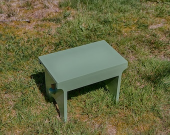 Wood Stool / Light Green