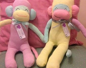Rainbow Sock Monkey by Sockemi