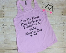 Disney Tank Top | Run Disney | Frozen Tank | For the First Time In Forever | Workout Tank | Womens Gym Tank