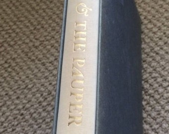 Vintage 1964 Mark Twain Hardcover Book with case/sheath - The Prince and the Pauper - HERITAGE PRESS