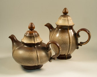 Vintage 70s teapot and  Coffeepot Gerzit Gerz Feinsteinzeug West Germany