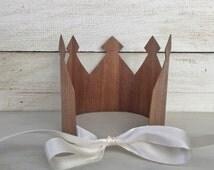 Royal Crown- King Crown, Queen Crown, Medieval Crown, Renaissance Crown, Costume Crown, Mens Crown, Kids Crown, Wood Crown