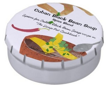Cuban Black Bean Soup Spice Kit for The Soup Pot Cookbook Recipe Made in the USA
