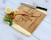 Personalized Cutting Board, Custom Cutting Board, Engraved Cutting Board, Custom Wedding Gift --CB-BAM-Nelson Family