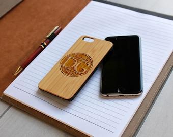 Personalized Iphone 6 case, Custom Iphone 6 case, Wood Iphone 6 case, Laser Engraved Iphone 6 case, Bamboo --IP6-BAM-Dominic Giseppi