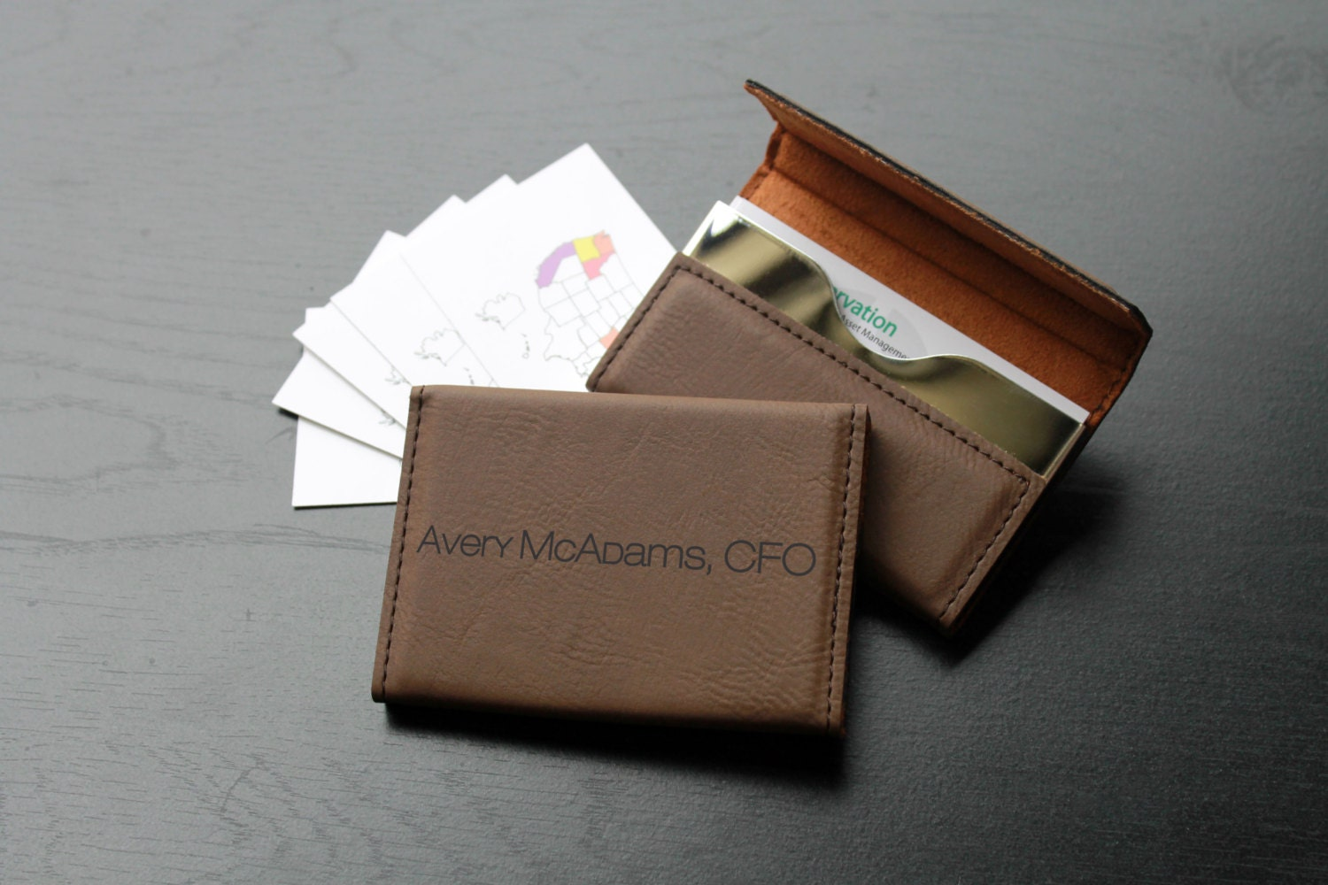 Personalized Business Card Holder Business Card Holder