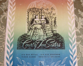 Court of Two Sisters Restaurant Menu