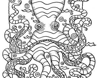 Ocean Creatures Coloring pages