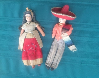 1930's Antique Dolls Stockinette Mexican