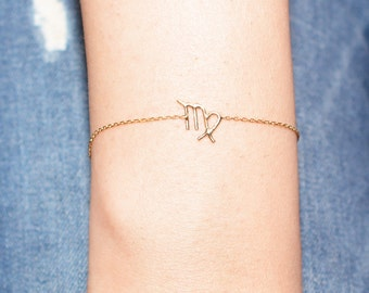 Horoscope Bracelet / Sterling Silver Astronomy Bracelet / Gold Plated Zodiac Bracelet / Astrology Bracelet / Personalized Jewelry