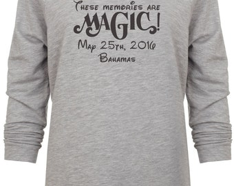 These Memories are Magic Disney Bahamas Cruise Glitter Vacation sweatshirt
