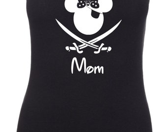 Disney Inspired Pirate Minnie Custom Pirates In the Carribean Vacation Racerback Tank Top 6633