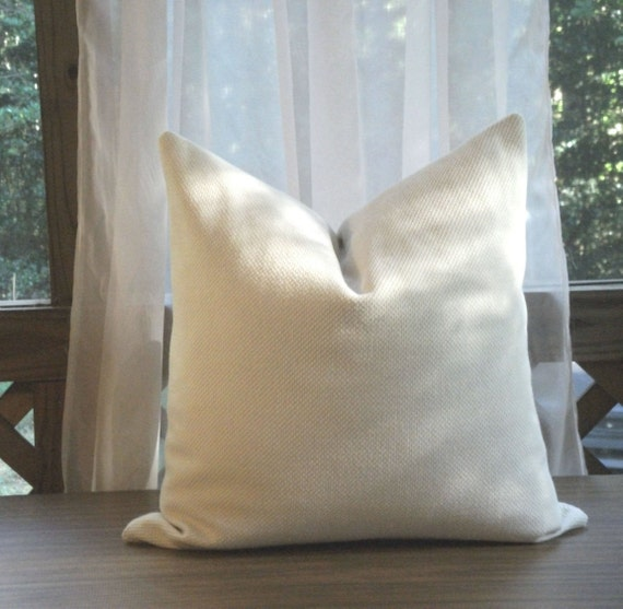Cream Colored Textured Pillow Cover Large By Joyfortunedesigns