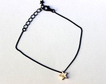 Sale Cute star bracelet, Gold star bracelet, cute bracelet, simple bracelet, unique bracelet, everyday bracelet