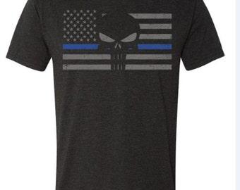 Punisher TBL Men's Flag Triblend Shirt