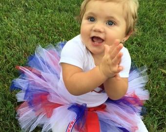 4th of July Tutu, Red White and Blue Tutu, Baby Tutu, Patriotic Tutu, Newborn Tutu