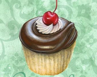 Chocolate Cherry Cupcake