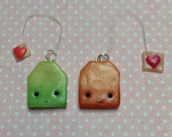 Kawaii Polymer Clay Tea Bag Charm