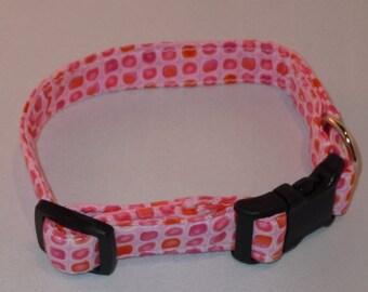Cloth Dog Collar - Pink