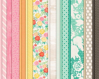 Ready for Change - Spring Digital Papers - 12 x 12 - Scrapbooking Pack - Perfect for Easter Crafts!
