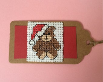 "Santa Teddy Bear Gift Tags Twin Pack, 8cm x 4.5cm (3"" x 1.75"")"