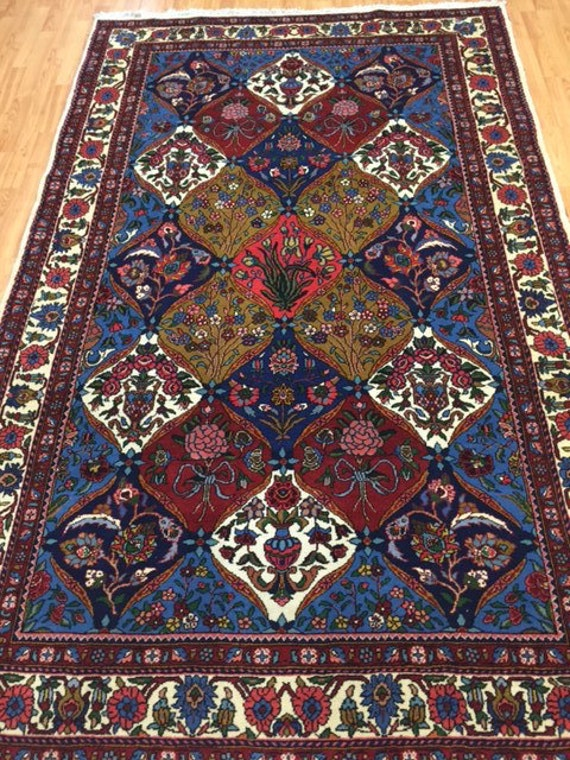 "5' x 8'4"" Persian Bakhtiari Oriental Rug - Very Fine - Hand Made - 100% Wool"