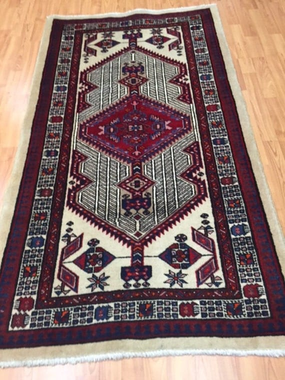 "3'1"" x 5'8"" Persian Sarab Oriental Rug - Hand Made - 100% Wool"