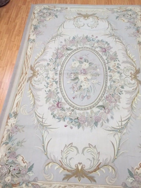 6' x 9' Chinese Aubusson Oriental Rug - Hand Made - 100% Wool - Flat Weave