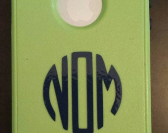 vinyl monogram letters for phone case