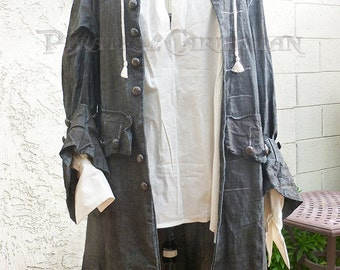 Jack Sparrow Pirates of the Caribbean Frock Coat and Pirate Shirt
